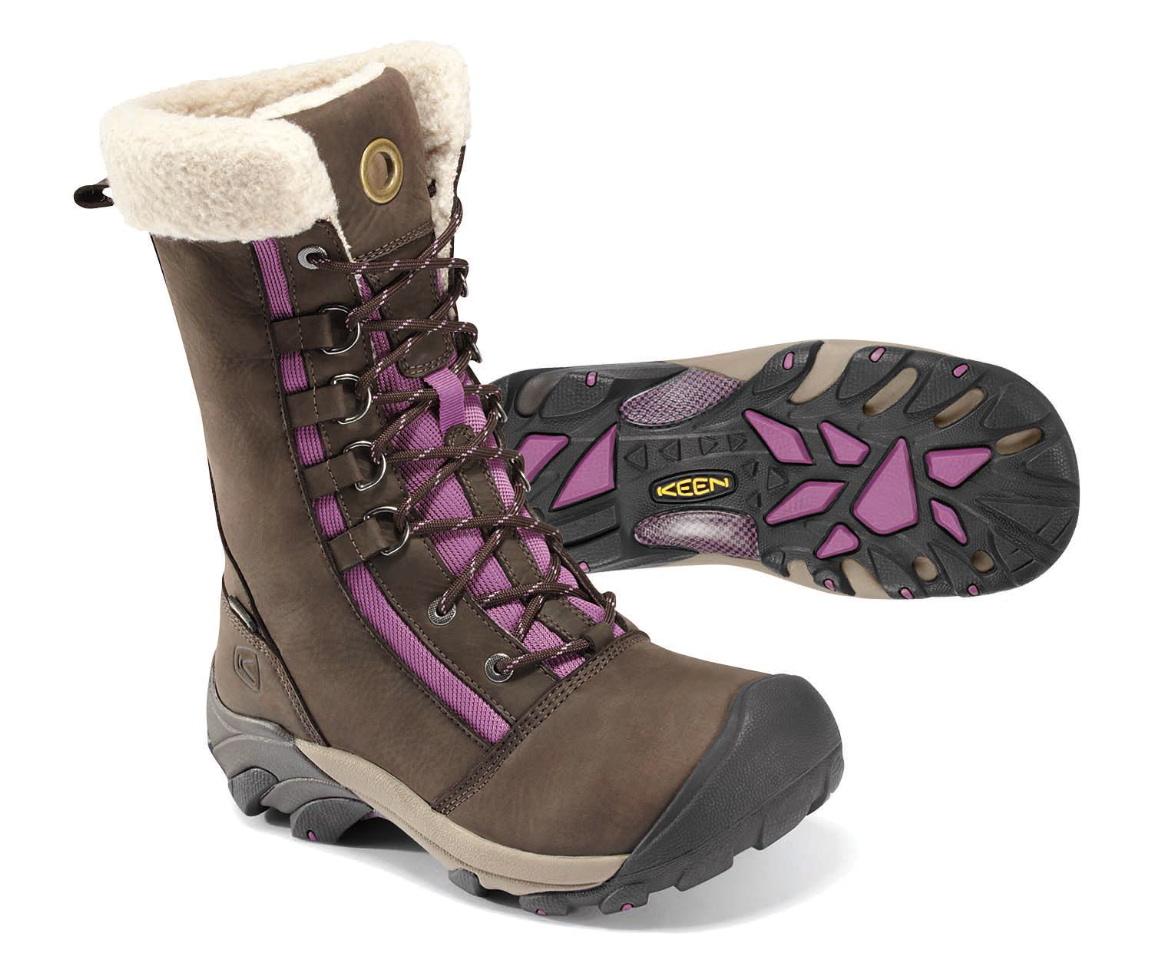 Keen Gypsum Mid Women Hiking Boot in Dark Earth/Celestial