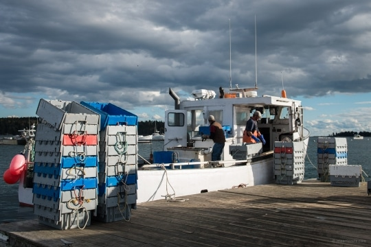 Lobster Fishing in Maine Maine United States