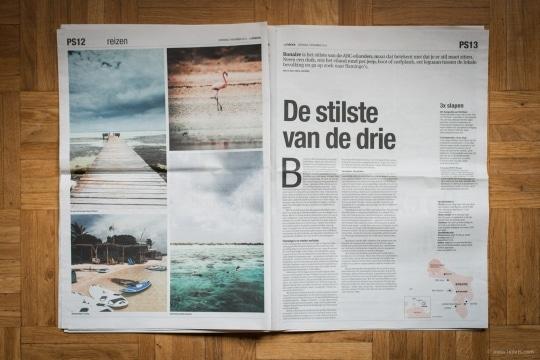Bonaire Travel Story in Het Parool Publications