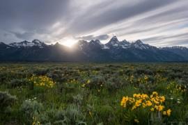 Teton Sunset on Mormon Row United States Wyoming