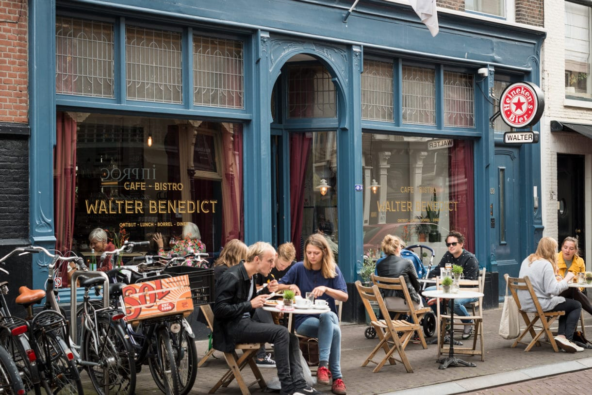 Lunch at Walter Benedict, the Hague The Netherlands