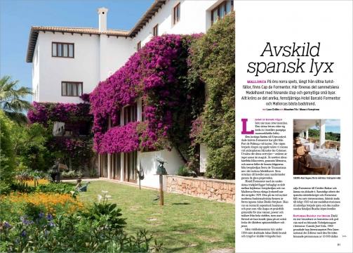 Hotel Formentor in Traveler Magazine Publications